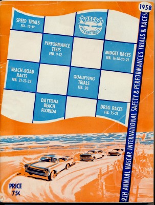 1958 NASCAR Daytona Program