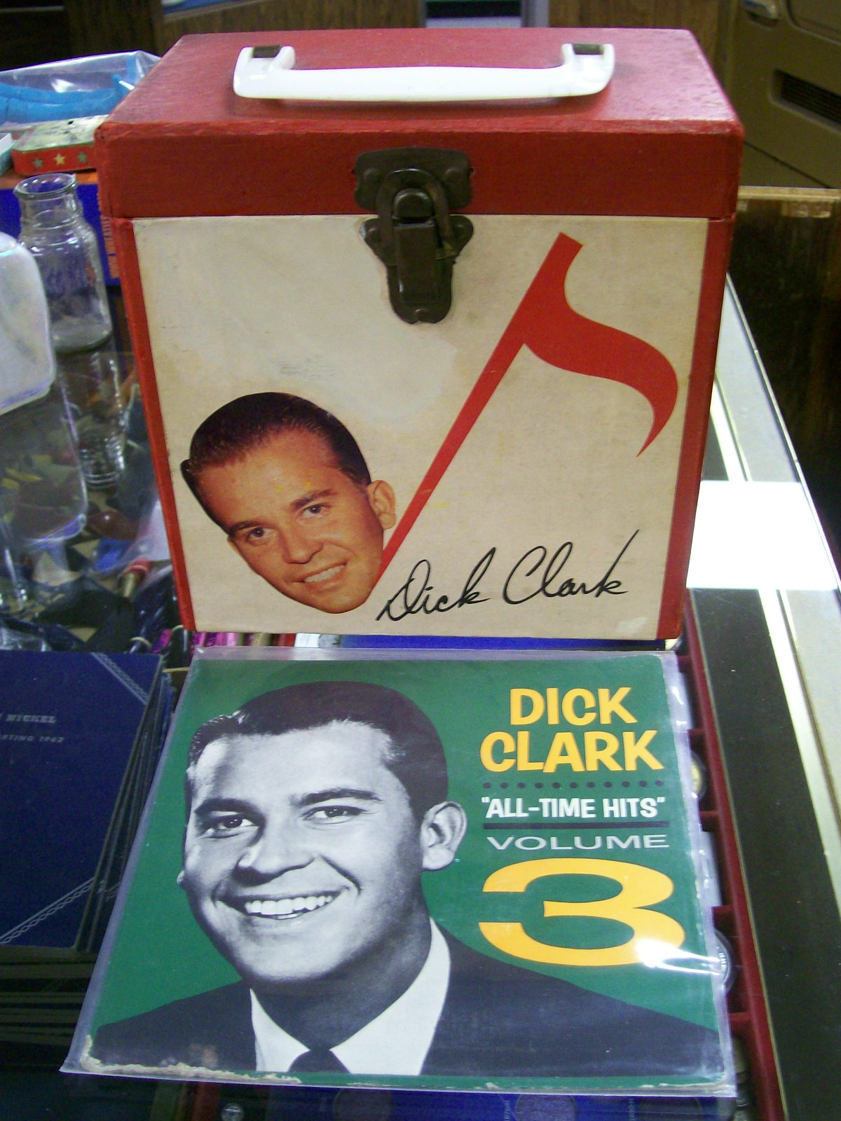VINTAGE DICK CLARK 45 RPM RECORD CARRING CASE+E.P. RECORD