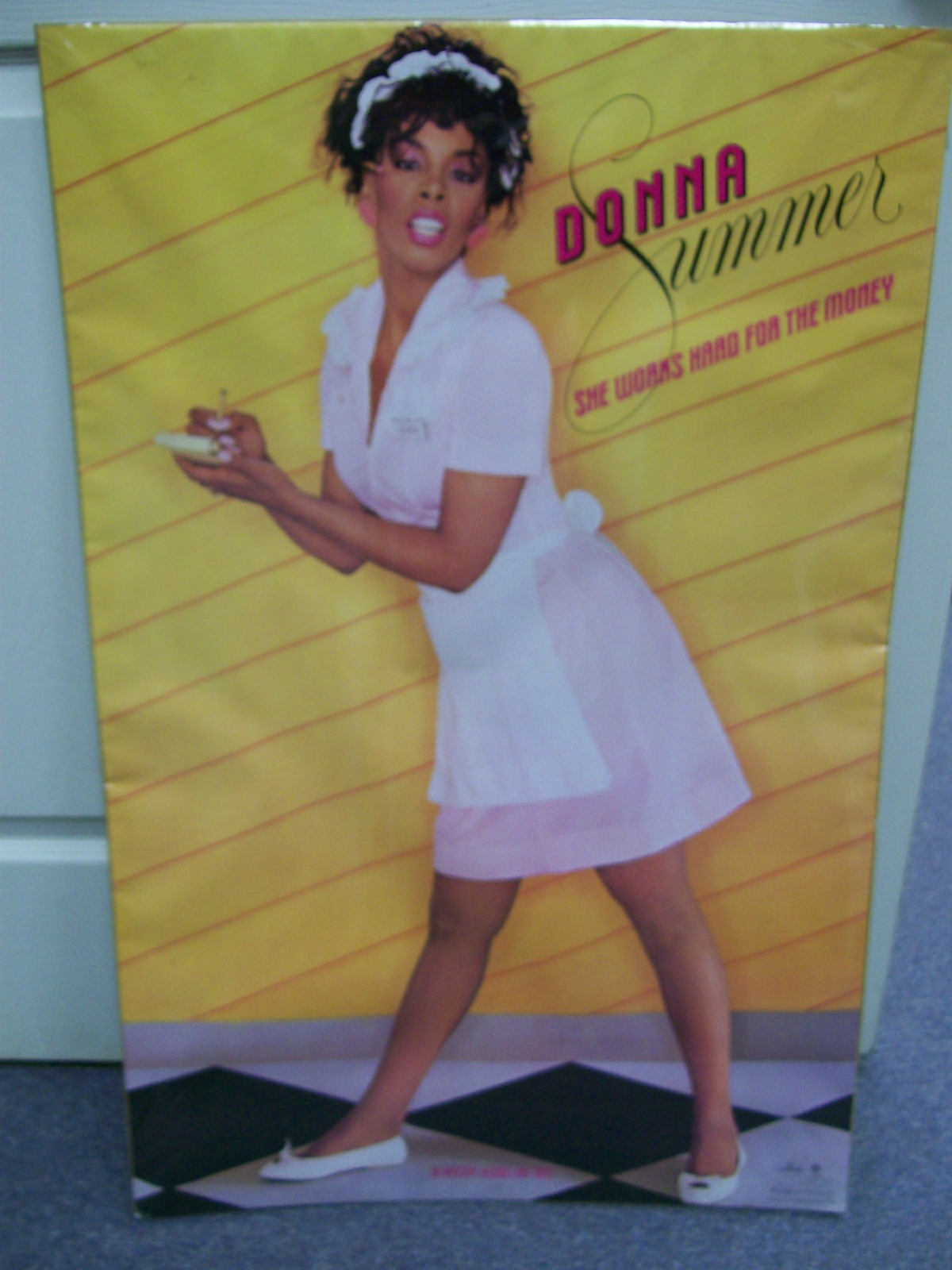 "DONNA SUMMER POSTER SHE WORKS HARD FOR THE MONEY 22""X 34"""