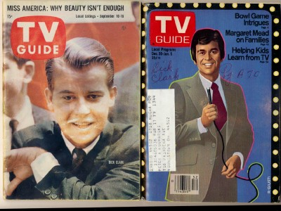 1960 & 1978 Dick Clark American Bandstand TV Guide Covers