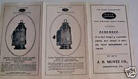 Horsedrawn Buggy & Early Car Dietz Driving Lamp Brochure