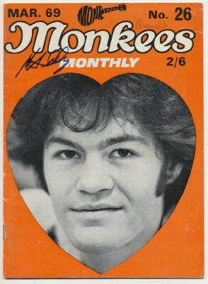March 1969 Monkees Monthly Autographed By Micky Dolenz