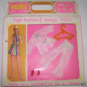 "Petite 6 1/2"" Fashion Doll Clothes Set NIB 5 Pcs"