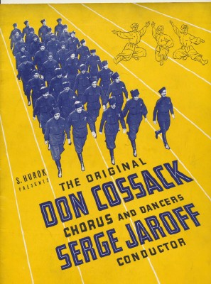 1958 Don Cossack Program - Russian Chorus & Dancers
