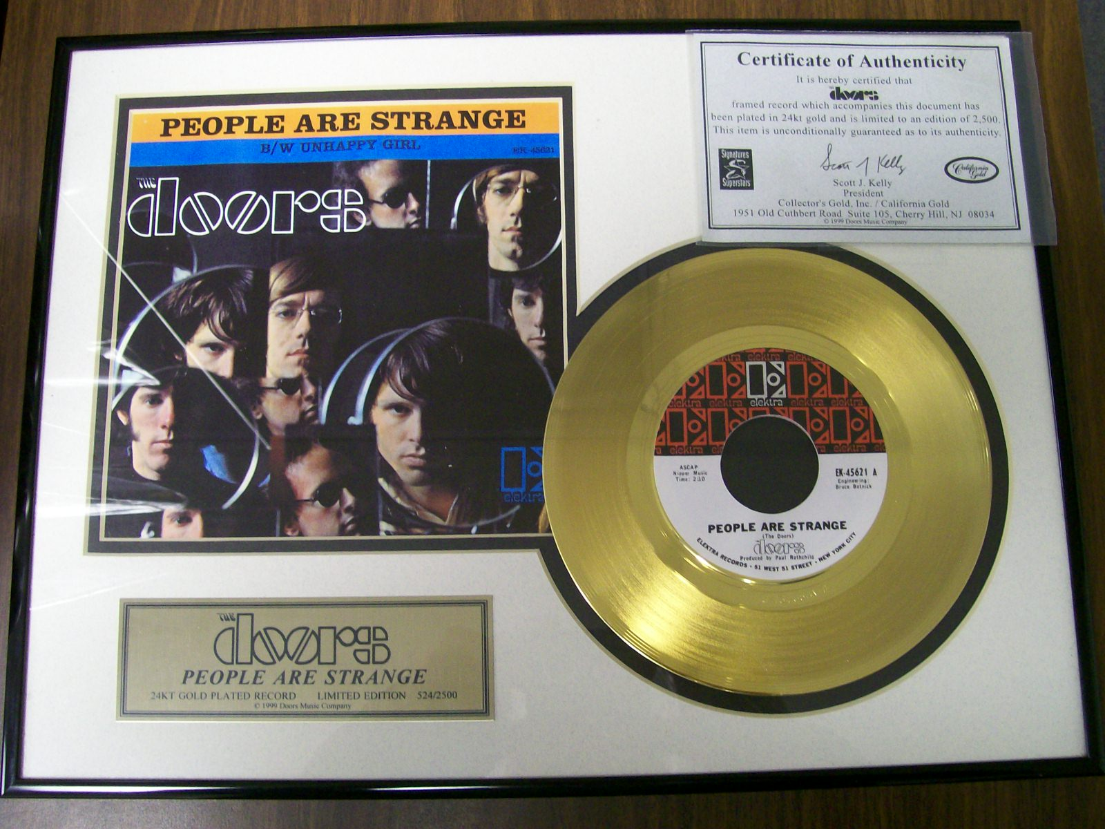 DOORS PEOPLE ARE STRANGE 24KT GOLD RECORD