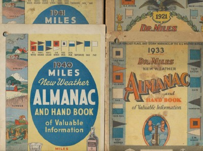 1921-1941 Dr Miles Medical Co Advertising Almanac Lot
