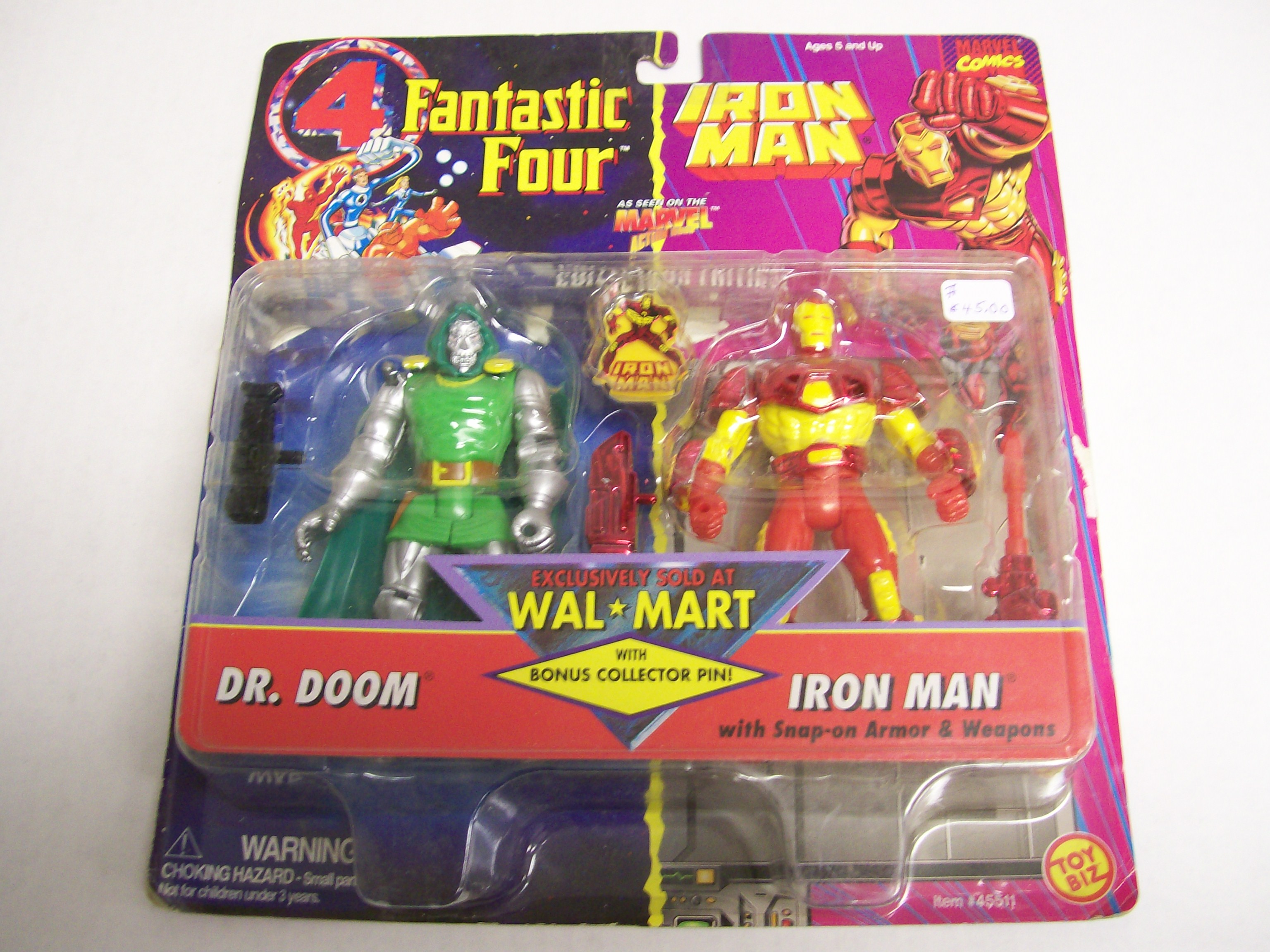 Marvel Comics Fantastic Four Dr. Doom, Iron Man