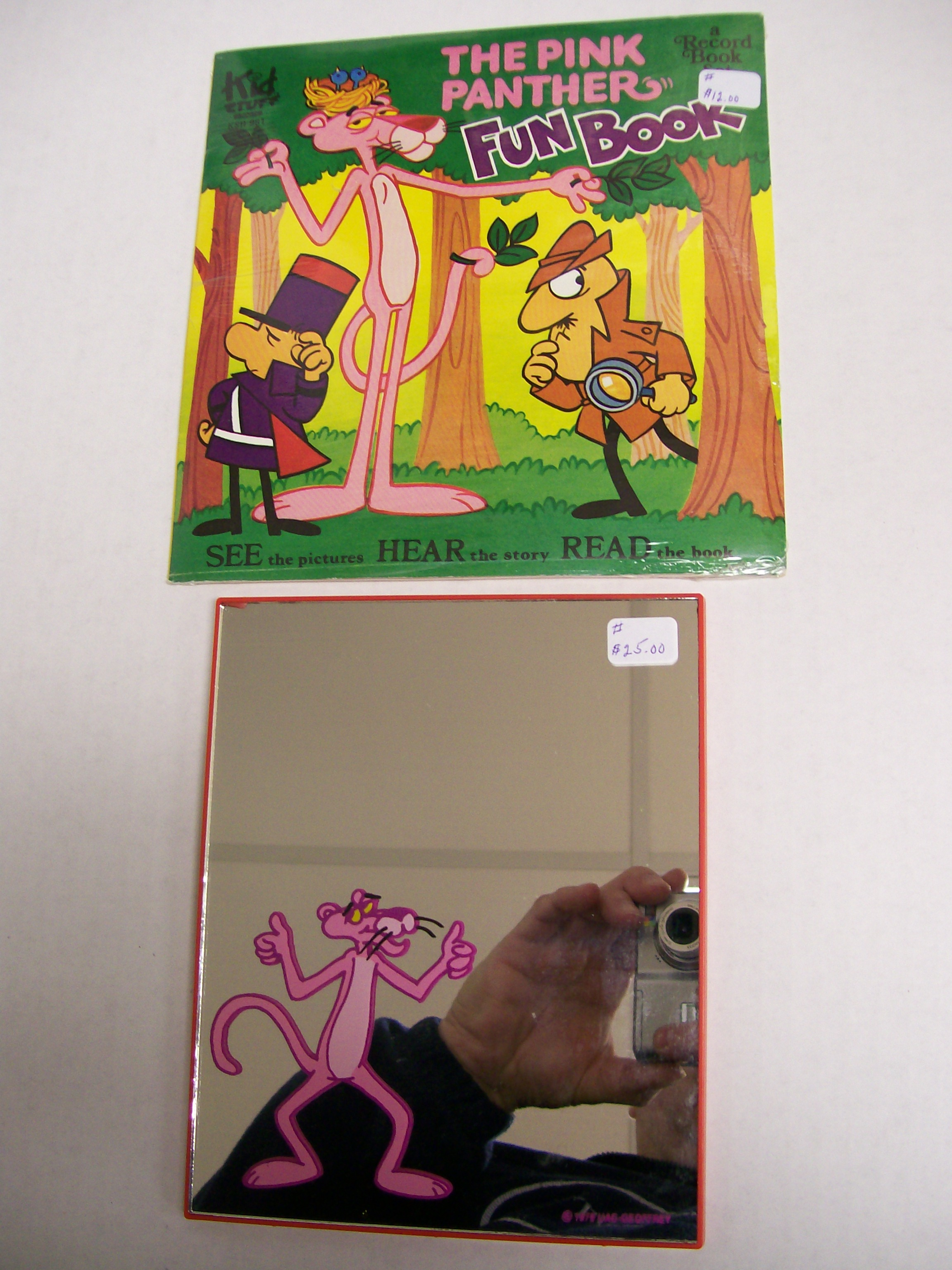 Pink Panther Mirror and Pink Panther Fun Book