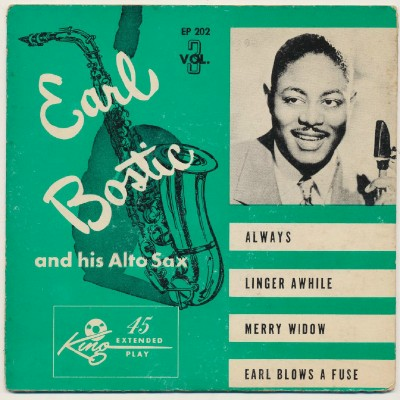 Earl Bostic EP Picture Sleeve - Always Linger Widow Fuse