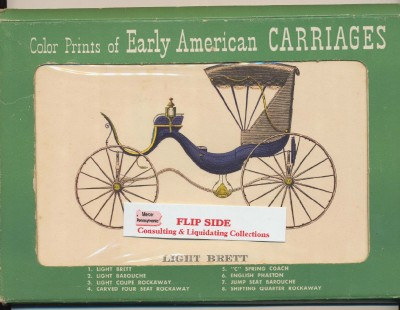Boxed Set Of 8 Color Prints Of Early American Carriages