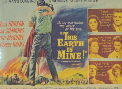 1959 Lobby Card - This Earth Is Mine - Rock Hudson Jean Simmons