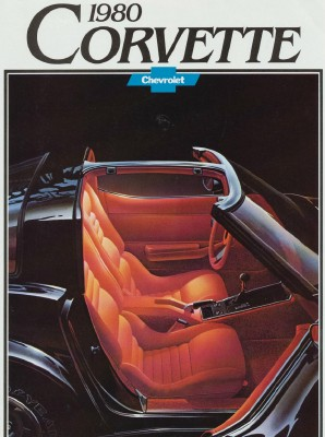 Vintage 1980 Corvette Showroom Sales Literature With Poster