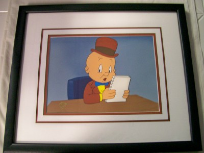 Framed Warner Bros Elmer Fudd Production Animation Cel
