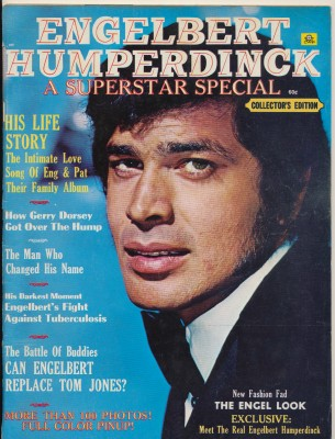 Vintage 1970 Engelbert Humperdinck Biographic Magazine