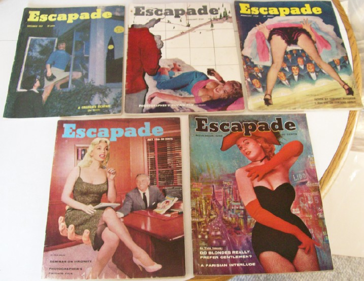 1955-1956 Lot Of 5 Escapade Men's Magazines