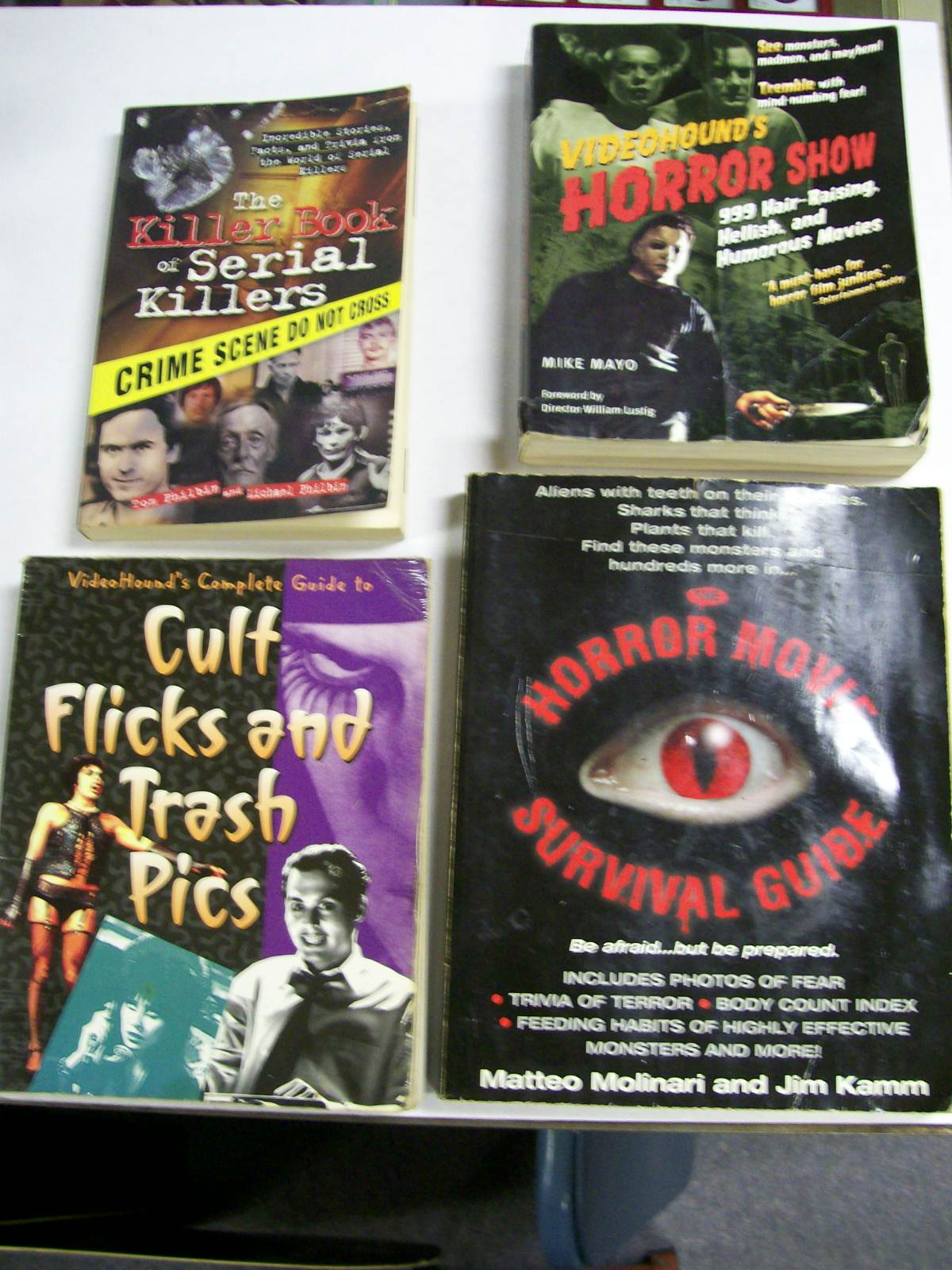 4 Books of Horror Movies, Shows, Cult & Serial Killers