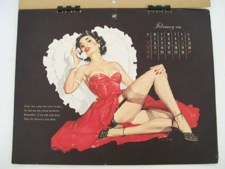 1954 Esquire Girl Cheesecake Pin Up Calendar - E Chiriata