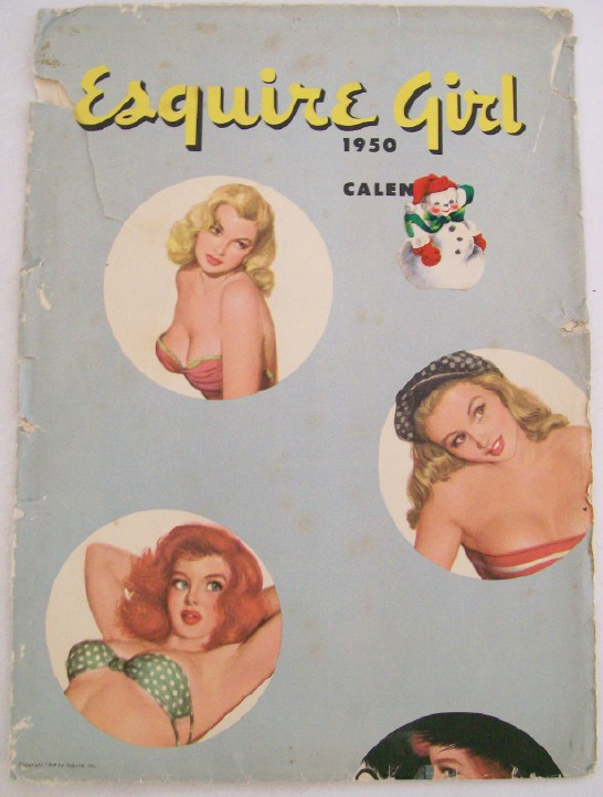 1950 Esquire Girl Cheesecake Pin Up Calendar - Al Moore