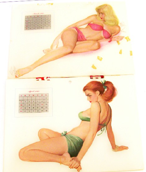 1949 Esquire Girl Cheesecake Pin Up Calendar - Freeman Elliott