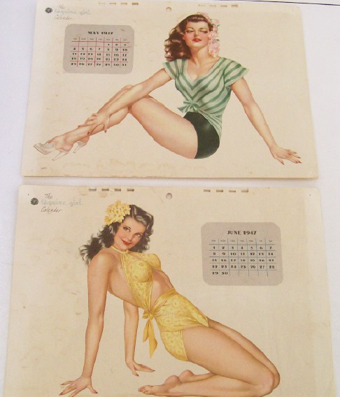 1947 Esquire Girl Cheesecake Pin Up Calendar - Vargas Girls