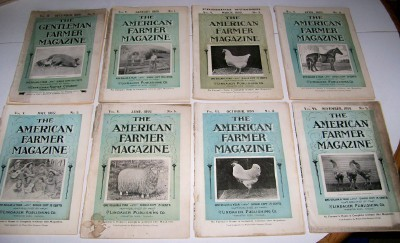 1898-1899 American Farmer Magazine Lot - Horsedrawn Farming