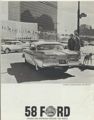 Vintage 1958 Ford Showroom Sales Literature Booklet