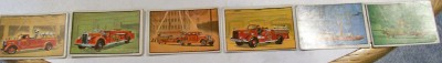 Lot Of 6 Bowman Firefighters Gum Trading Cards From 1953