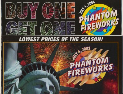 2003 & 2004 Phantom Fireworks Catalogs