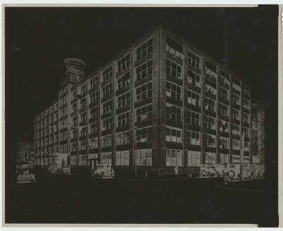 1910 Fisher Body Plant Photo Negative With Vintage Cars