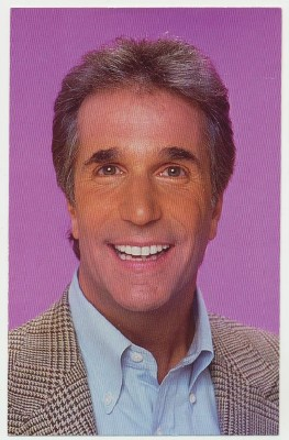 Autographed Color Photo Of Henry Winkler - The Fonz - Fonzie
