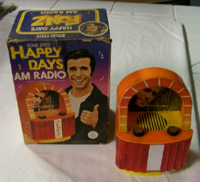 1976 Happy Days Jukebox AM Radio With the Fonz In Original Box