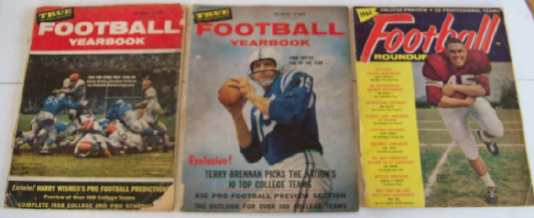 Vintage 1950s-1960s College & Pro NFL Football Yearbook Lot
