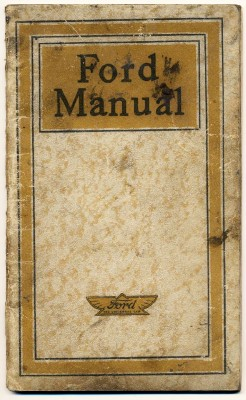 Vintage Model T Ford Owner's Manual
