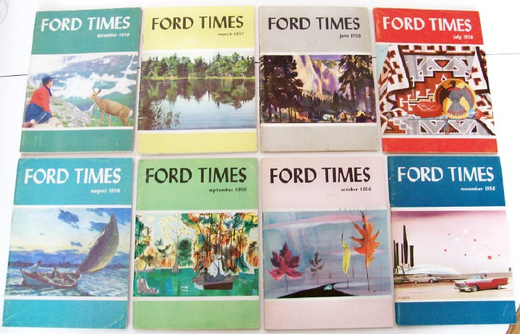 Lot Of 1950s Ford Times Car Dealer Advertising Magazines