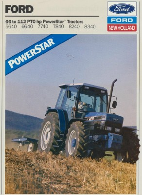 1993 Ford New Holland Tractor Sales Literature Book