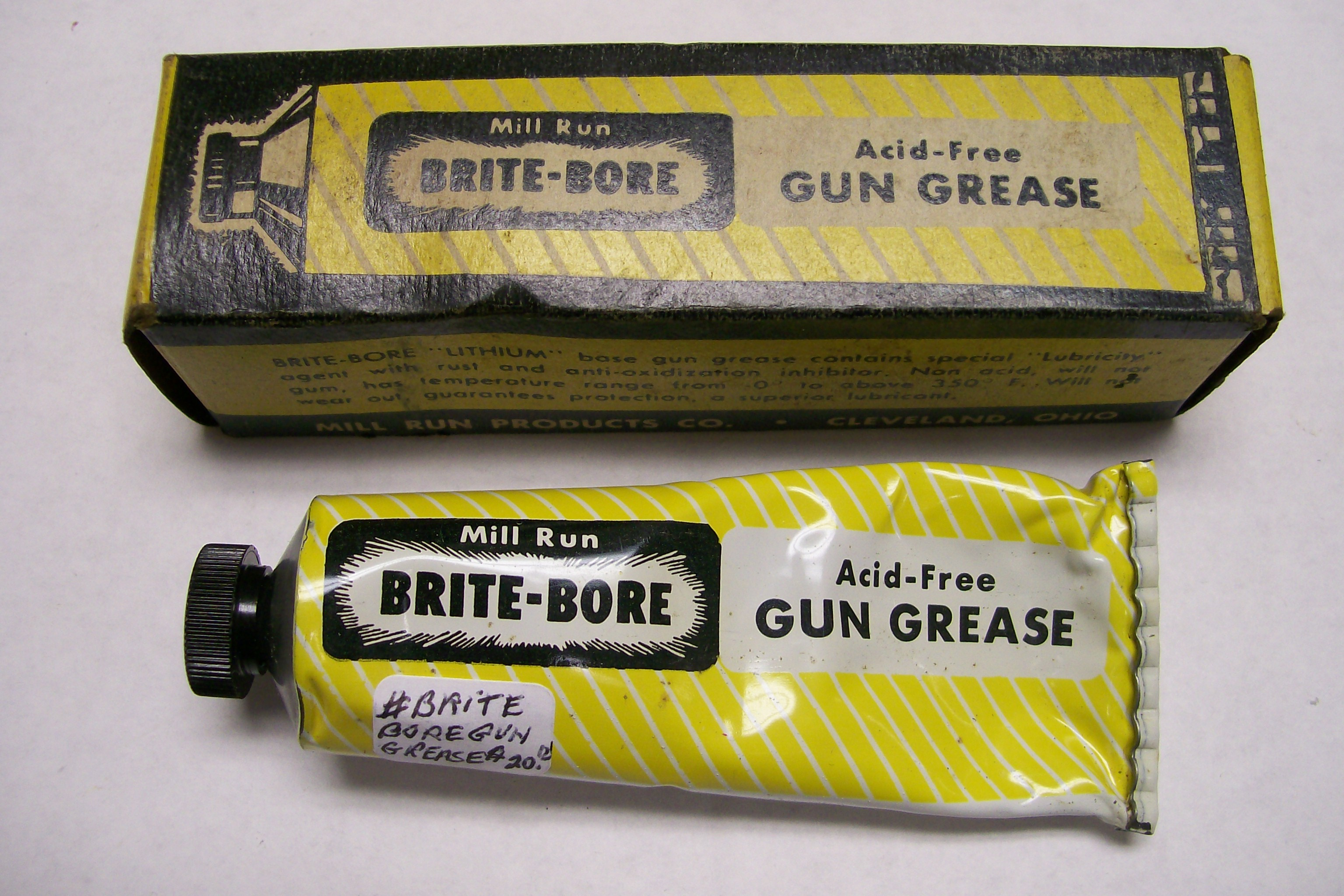 Mill Run Products Brite-Bore Gun Grease Cleveland, Ohio