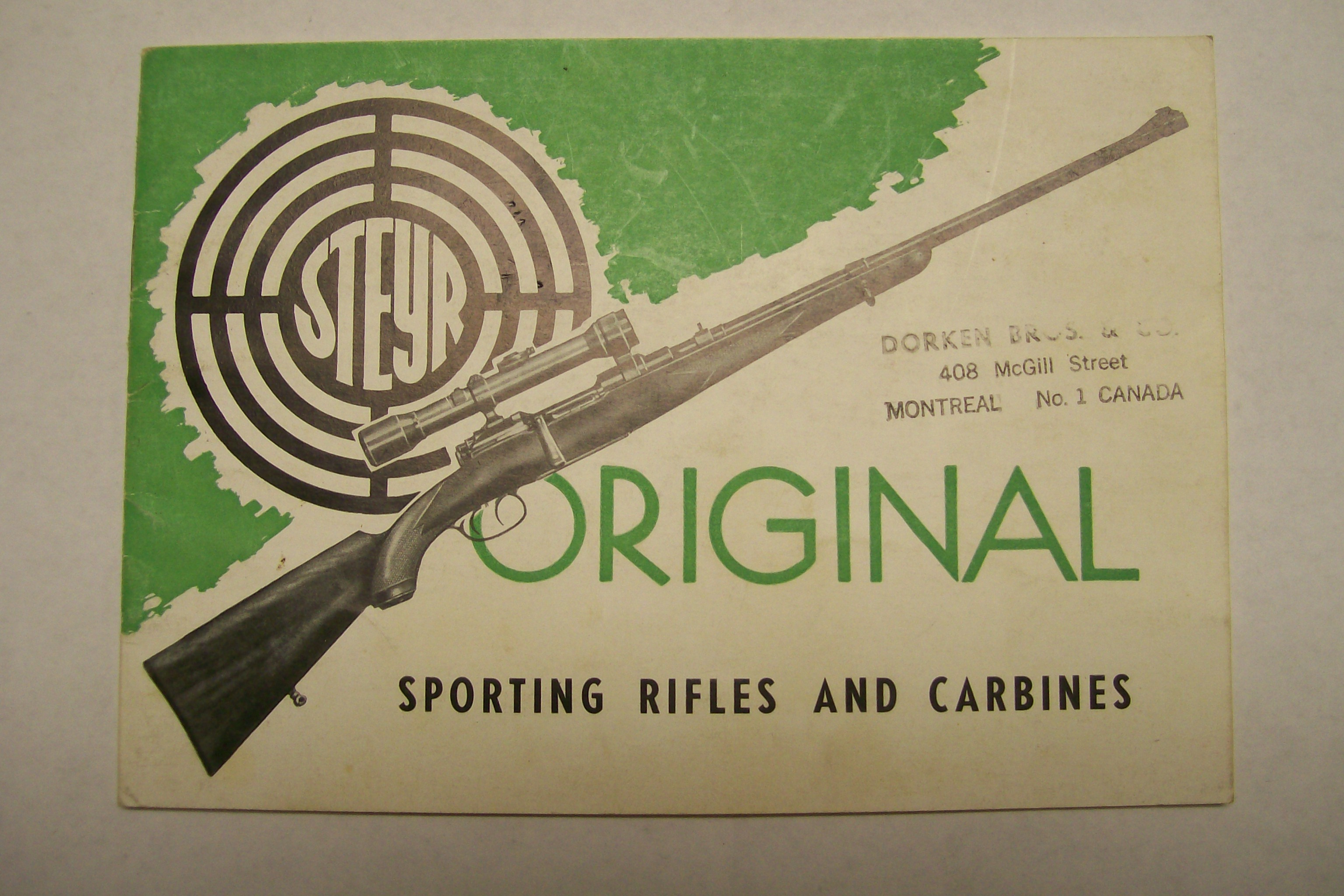 Steyr Sporting Rifles and Carbines 1957-59 Austria/ USA