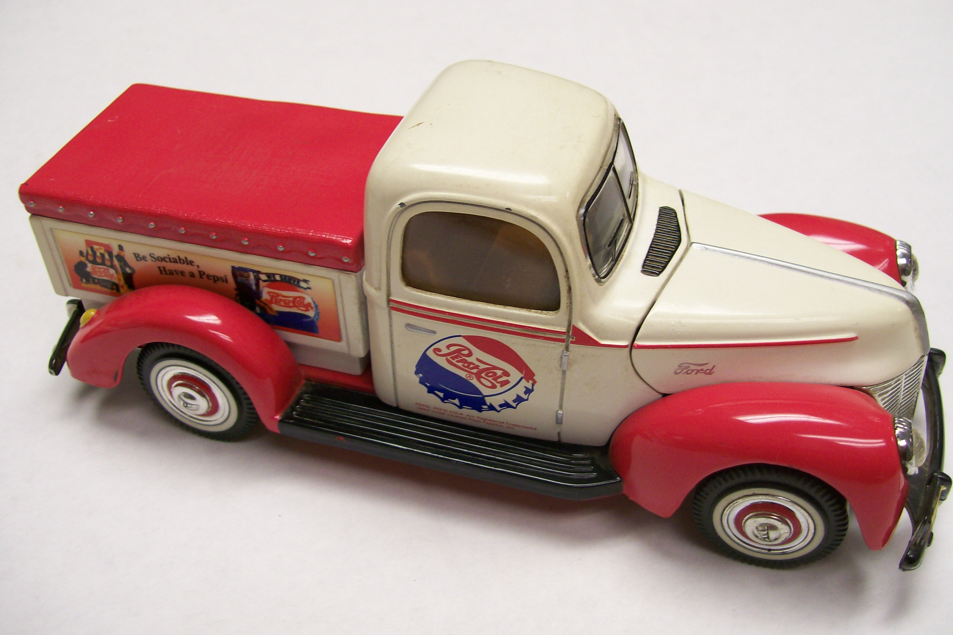 1940 ford truck advertising pepsi-cola golden die-cast #ms13.