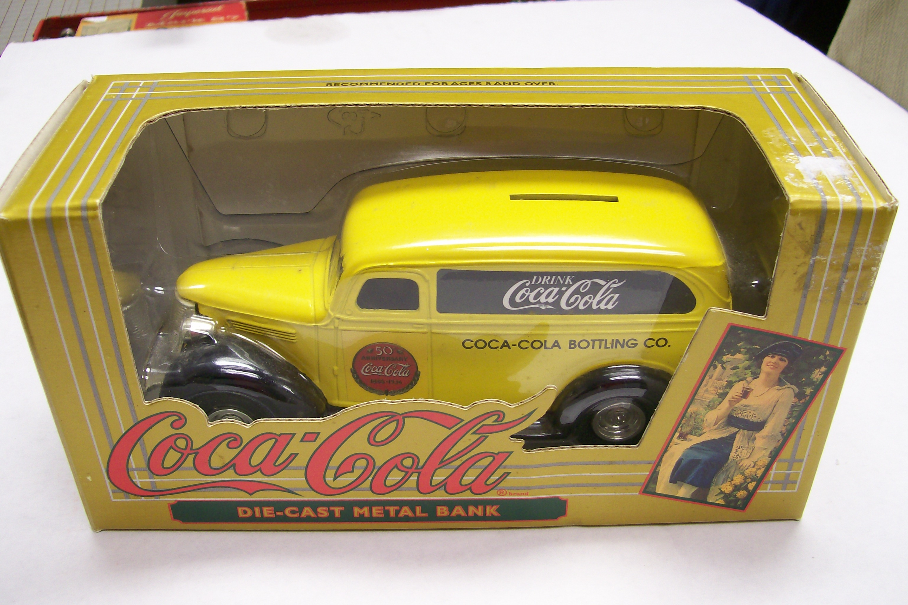 Coca-Cola 50 Ann.1936 Chevrolet Die Cast Metal Bank by Ertl