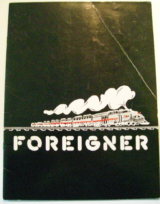 1978 Foreigner Tour Book Photo Album With Punchout Tour Bus