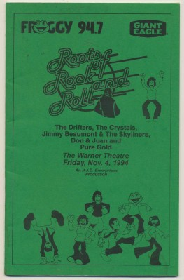 1994 Roots Of Rock & Roll Show Program - Erie PA