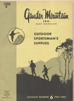 1965-1966 Gander Mountain Outdoor Sportsman's Supplies Catalog