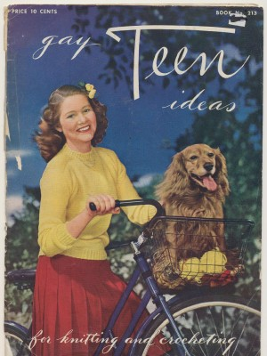 Vintage WWII 1944 Knitting & Crocheting Pattern Book For Teens