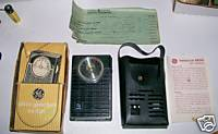 GE Transistor Radio With Carrying Case In Original Box