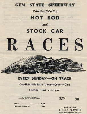 Gem State Speedway Hot Rod & Stock Car Racing Program