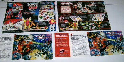 Generation 1 Transformers Lot Of 4 Color Catalog Sheets