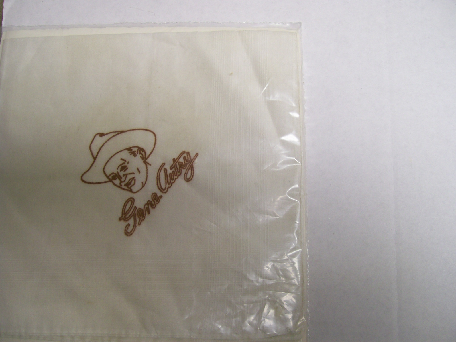 "Gene Autry Personal Handkerchief With Logo 16"" Square"