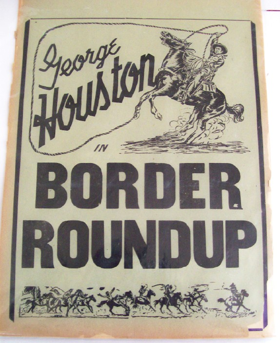 1940s George Houston Movie Cowboy Advertising Broadsides