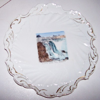 Very Early Niagara Falls German Souvenir China Plate