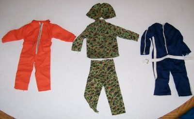 Vintage GI Joe Clothing - 5-Piece Lot - Jumpsuits & Camo